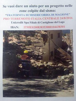 locandina pro terremoto