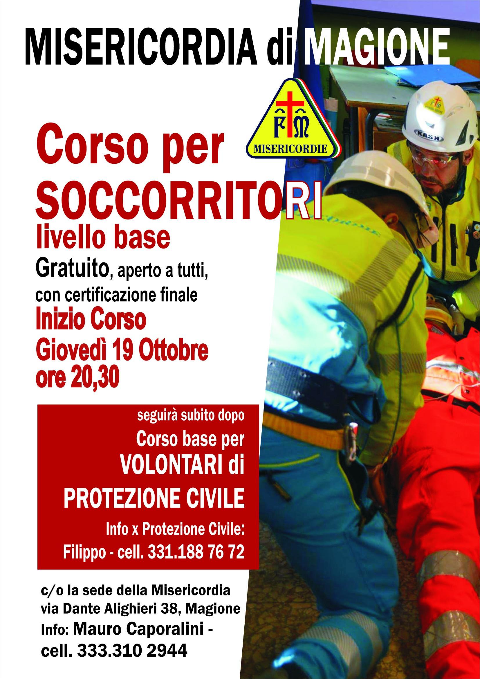 locandina corso soccorritori 2017